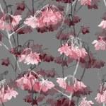 Постер, плакат: Sakura blossom seamless pattern