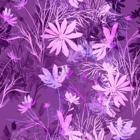 Imprints flowers pattern