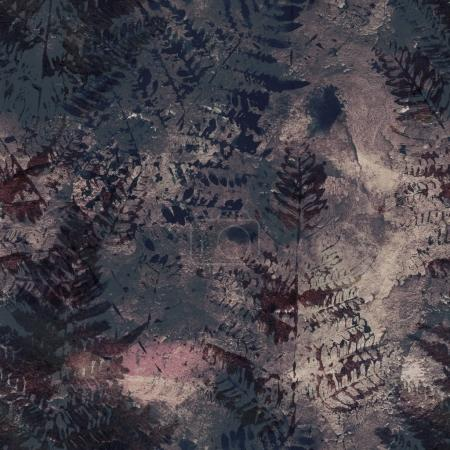 old texture of fern imprints