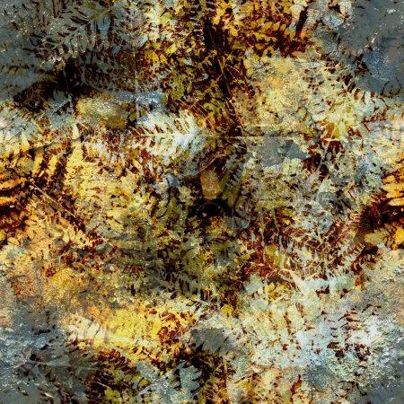 Vintage old texture of fern imprints