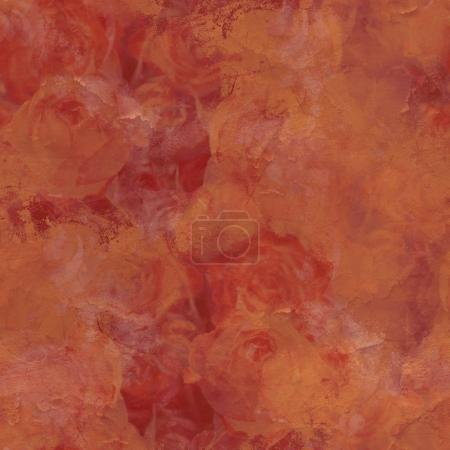 Vintage texture of rose flowers with patina