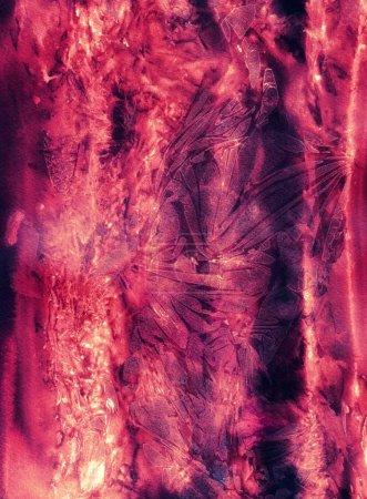 Photo pour Texture magique créée par la peinture liquide aquarelle - fond pour la conception - image libre de droit