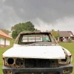 Постер, плакат: Remains of old abandoned car Olal village Ambrym island Vanuatu 6052
