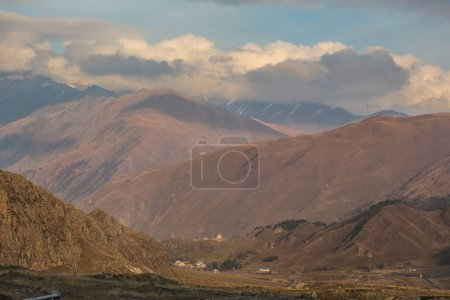 Photo for Scenic view of mountains landscape with dramatic sky - Royalty Free Image