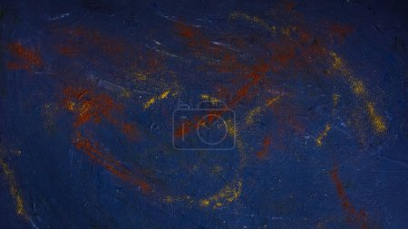 top view of spices on dark blue surface