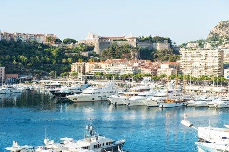 Monaco. Mediterranean Sea landscape. French riviera