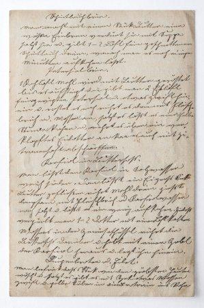 Foto de Texto escrito a mano. Fondo de papel vintage. Textura de scrapbook digital - Imagen libre de derechos