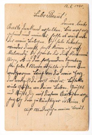 Photo pour Lettre postale manuscrite. Fond en papier vintage. Texture scrapbook numérique - image libre de droit