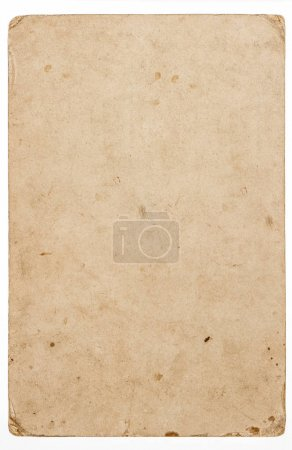 Photo for Used paper sheet with edges isolated on white background - Royalty Free Image