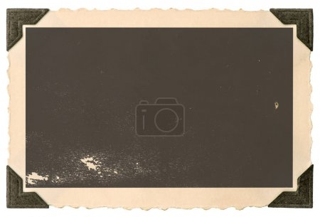 Photo for Vintage paper photo card with corner isolated on white background - Royalty Free Image