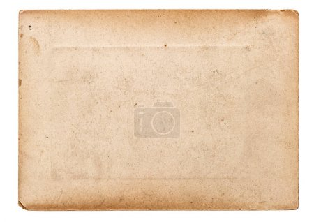 Photo for Paper old used isolated on white background. Vintage torn cardboard - Royalty Free Image