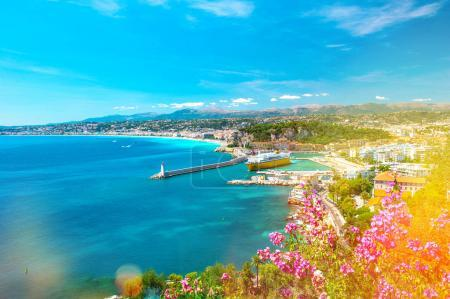 Nice city French riviera mediterranean sea Light leaks