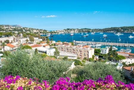 French reviera luxury resort Villefranche-sur-Mer azalea flowers