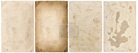 Photo pour Feuilles de papier avec bords isolés sur fond blanc - image libre de droit