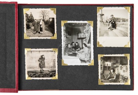 Photo for Vintage photo album with old family pictures - Royalty Free Image