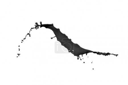 Photo pour Peinture noire éclaboussure isolée sur fond blanc - image libre de droit