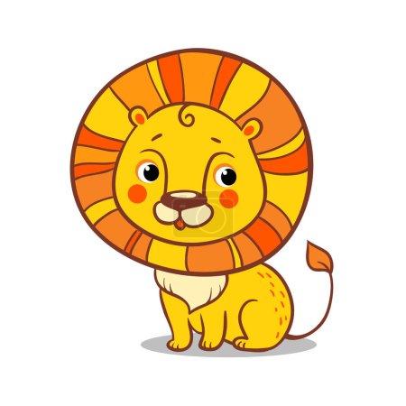 Lion cartoon illustration