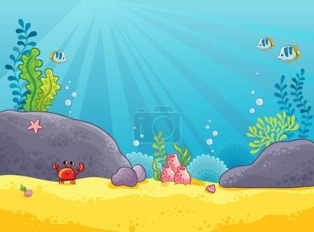 Illustration of the underwater world