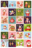 Christmas calendar in childrens style