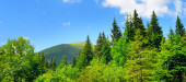 Amazing mountain landscape - natural outdoor travel background.