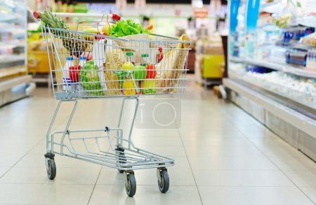 Consumer cart full of products