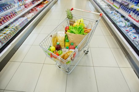 Shopping cart full products