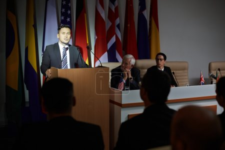 President speaking at international press conference