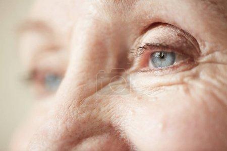 Eyes of elderly woman