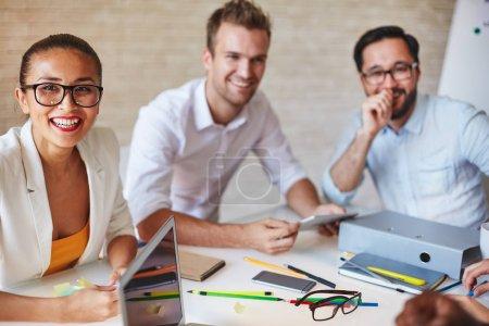 creative designers working at seminar