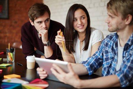 Creative employees planning work