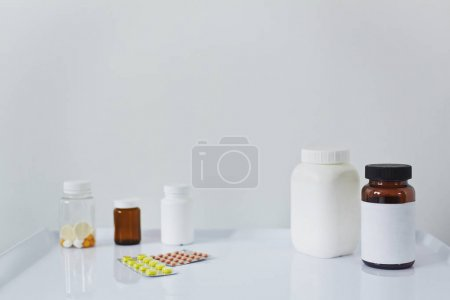 Assortment of tablets and pills