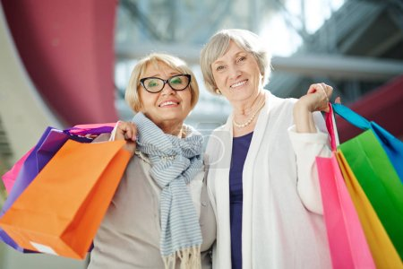 pensioners visiting shopping mall