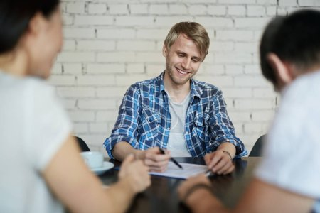 Guy at interview