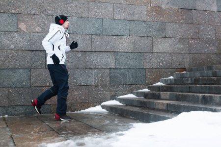 Runner doing his running workout