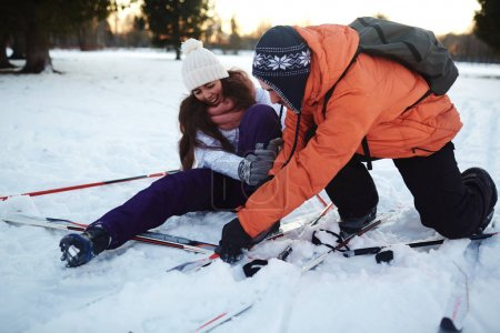 Two active skiers
