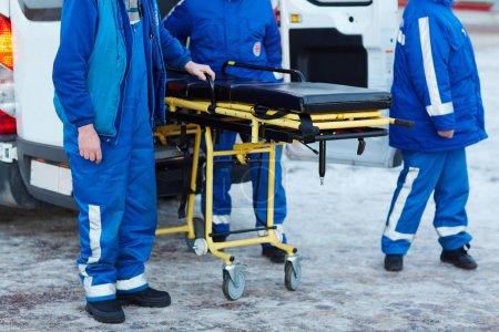 Emergency ambulance workers