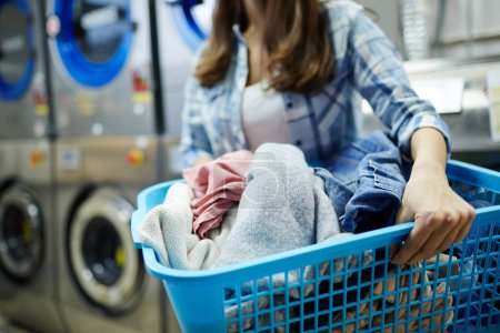Clothes in laundry-basket