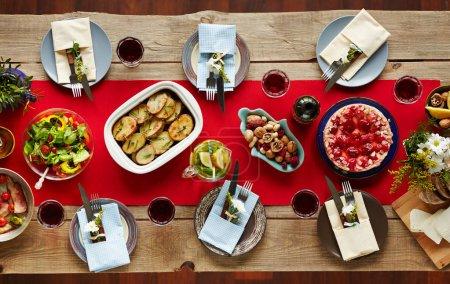 Homemade food on table