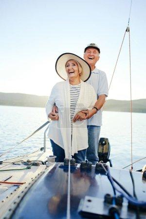 couple having romantic voyage