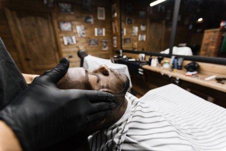 Man having facial massage