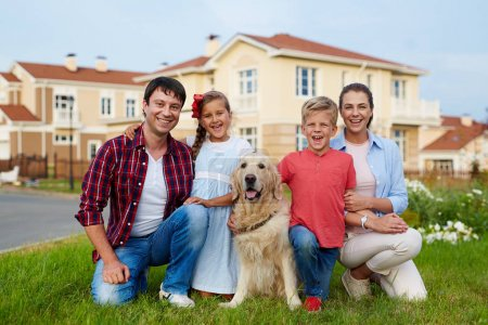 successful happy family