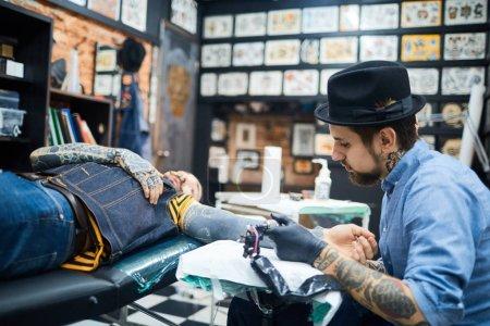 Visiting tattoo salon