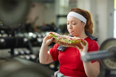 Woman taking break from work out
