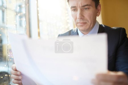 business man with documents