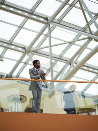 businessman in business center