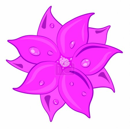 pink flower vector picture