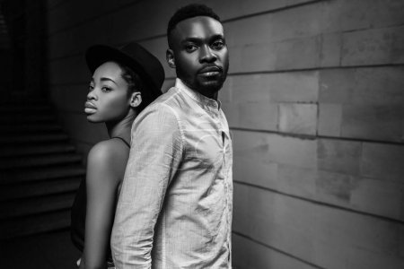 Portrait of beautiful stylish couple