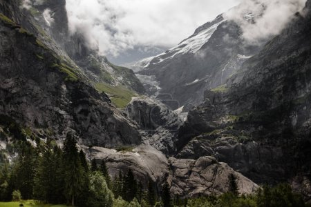 Photo for Amazing landscape with majestic rocky mountains in Alps - Royalty Free Image