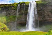 Seljalandsfoss landscape, one of the most famous icelandic water