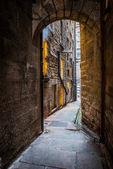 Narrow street in Edinburgh
